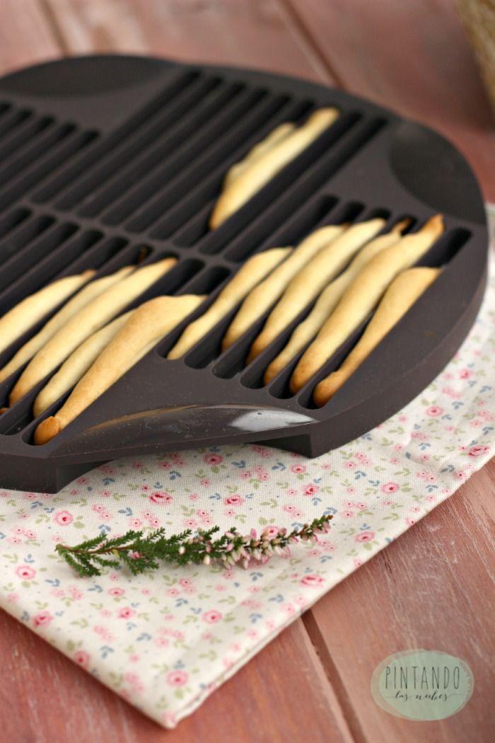 Palitos de pan hechos con  molde