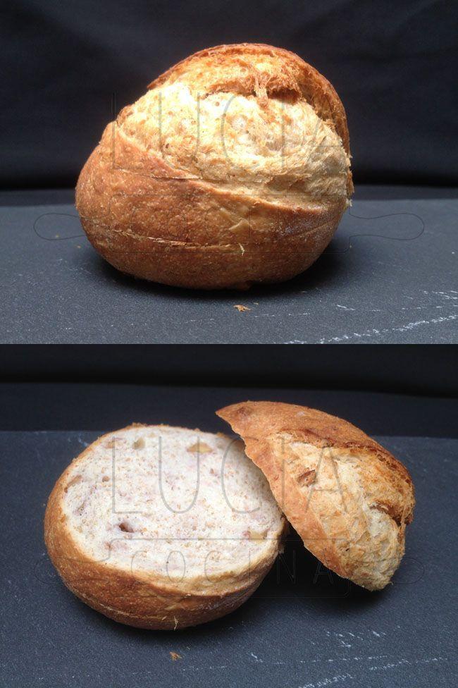 Pan individual de nueces, nuts, bread