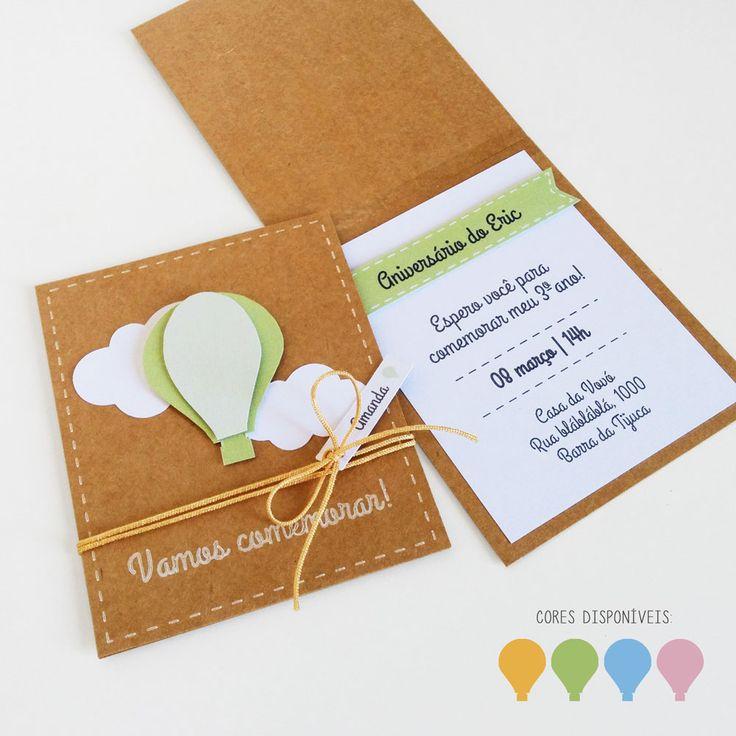 Convite - Balão na lojadanuvem.com