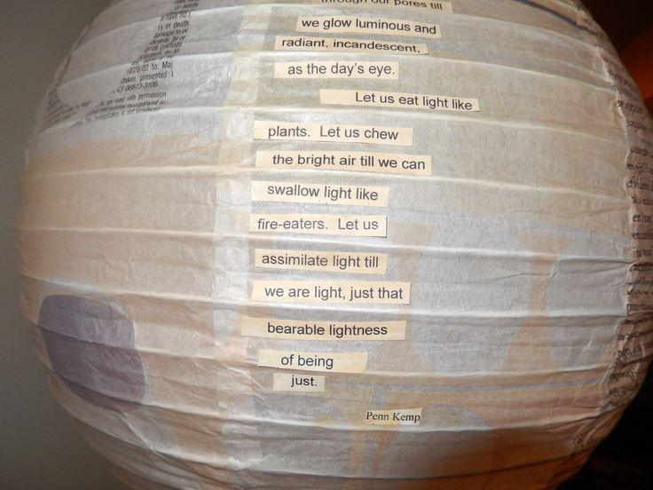 Poem On Light Terry Ann Carter