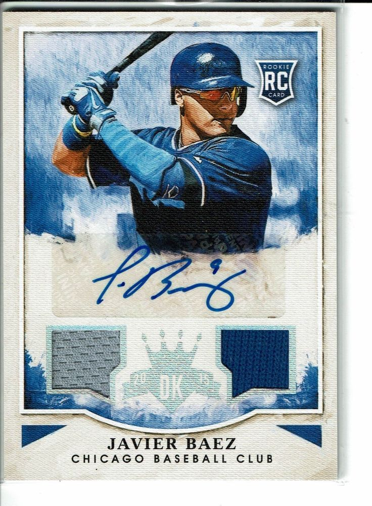 detailed look c1685 a8da4 2015 JAVIER BAEZ DIAMOND KINGS #15/299 DUAL JERSEY AUTO RC ...