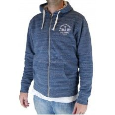 Zuma Jay Crossed Sherpa Hoody Blue