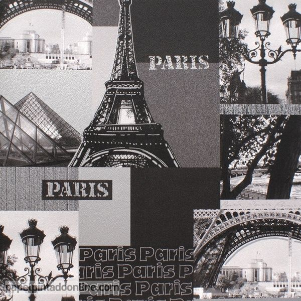 papel pintado funny walls 257 5611 con motivos de par s en blanco y negro papel pintado funny