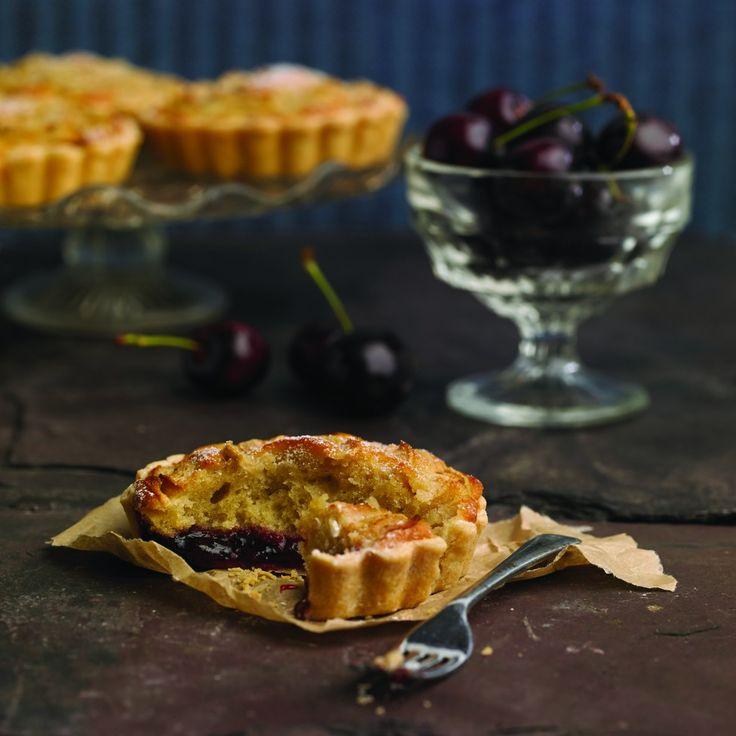 Pear & Black Cherry Frangipane Tarts