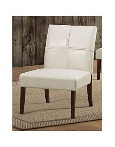 armless living room chairs modern homelegance 1215crs accent chair cream bi cast vinyl