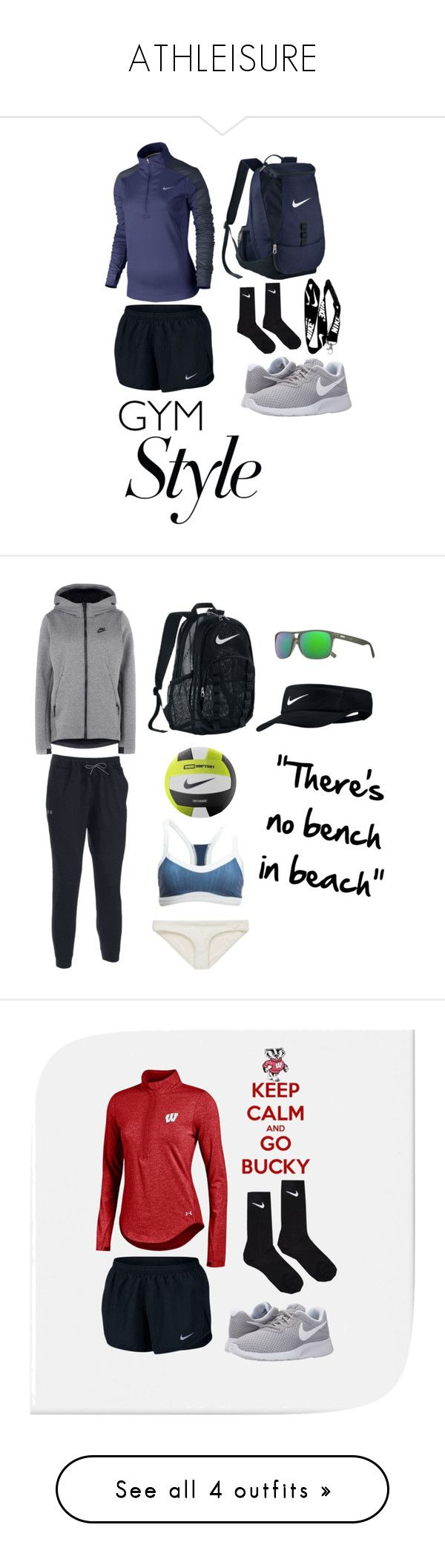 """""""ATHLEISURE"""" by graceschaf on Polyvore featuring NIKE, Under Armour, Revo, Vitamin A, Seafolly and Icebreaker"""