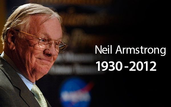 "Neil Armstrong, First Man on the Moon, Dead at 82.  The first man to land on the moon as commander of NASA's Apollo 11 mission, has died at 82 according to a report by NBC.    Armstrong passed away due to complications of a heart bypass surgery he underwent just weeks ago. His 82nd birthday was on August 5.    On July 20, 1969, Armstrong made history by placing his left foot onto the surface of the moon and uttering the words, ""That's one small step for man, one giant leap for mankind"""