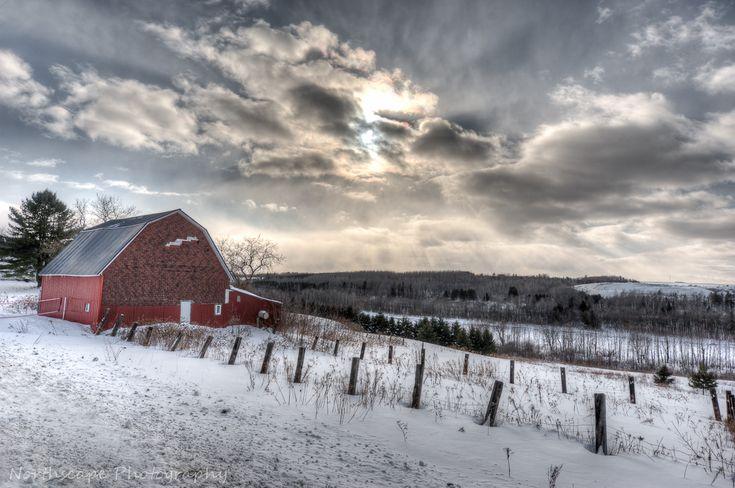 Red Barn On Parkhurst Siding Road Near Aroostook River In