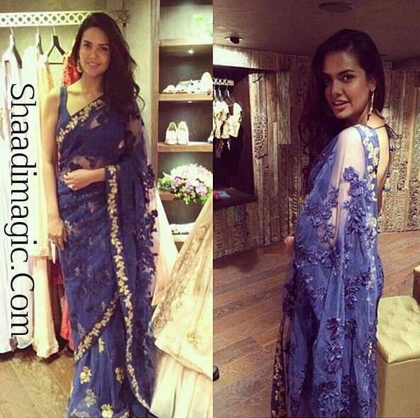 Looking for simple, sober saree? Try this beautiful saree worn by actress Esha Gupta