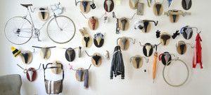 Percheros de pared originales para amantes de la bicicleta
