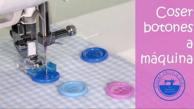 Cómo coser un botón a máquina