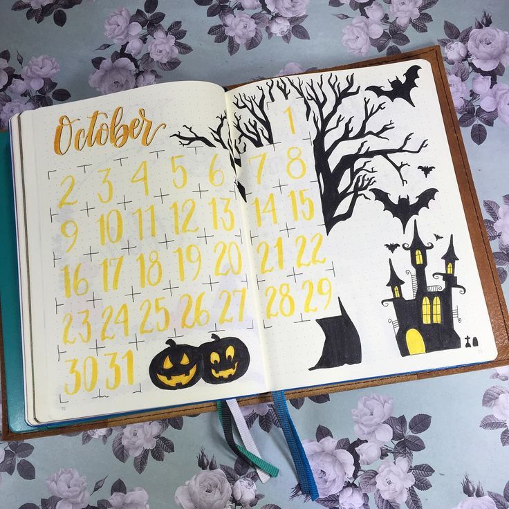 Check out my monthly spread for October.. See all the spreads over on Instagram. Instagram.com/bulletjournaljunkie