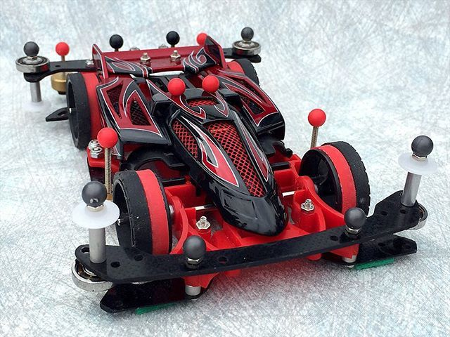 タミヤ公式コンクールデレガンスより。  Modified by the customer. The entrant for the Concours d'Elegance.  #mini4wd #tamiyamini4wd #ミニ四駆