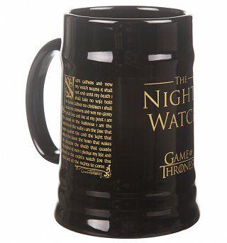 Game Of Thrones Night's Watch Ceramic Stein Mug