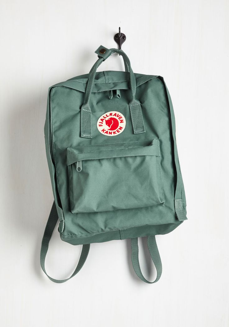 Wherever You Wander Backpack in Viridian by Fjällräven - Mint, Solid, Casual, Travel, Scholastic/Collegiate, Better