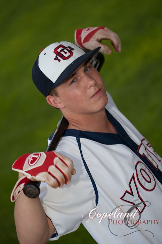 Baseball senior photos © Copeland Photography