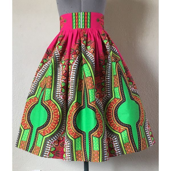 Fancy Multi Panel African Dashiki Angelina Java Print Skirt High Waist... ($60) ❤ liked on Polyvore featuring skirts, green, women's clothing, african maxi skirts, green maxi skirt, pocket skirt, print maxi skirt and african print skirt