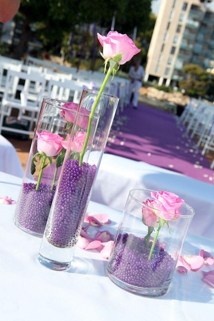 Ceremonia en tonos lilas