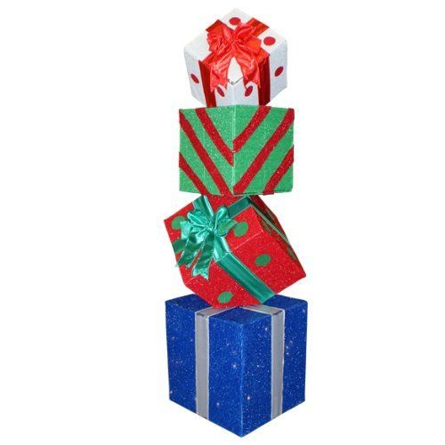 60 Lighted Multi Color Animated Gift Box Present