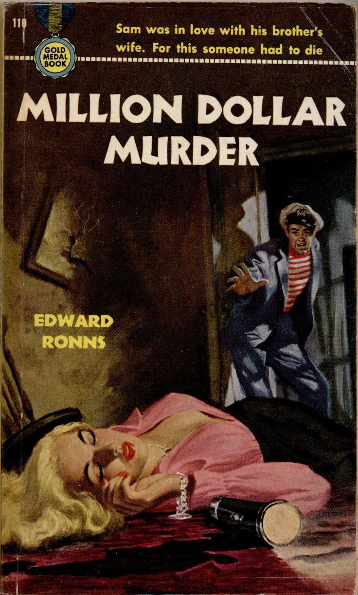 Retro Book Cover Art : Million dollar murder pulp cover crime vintage art