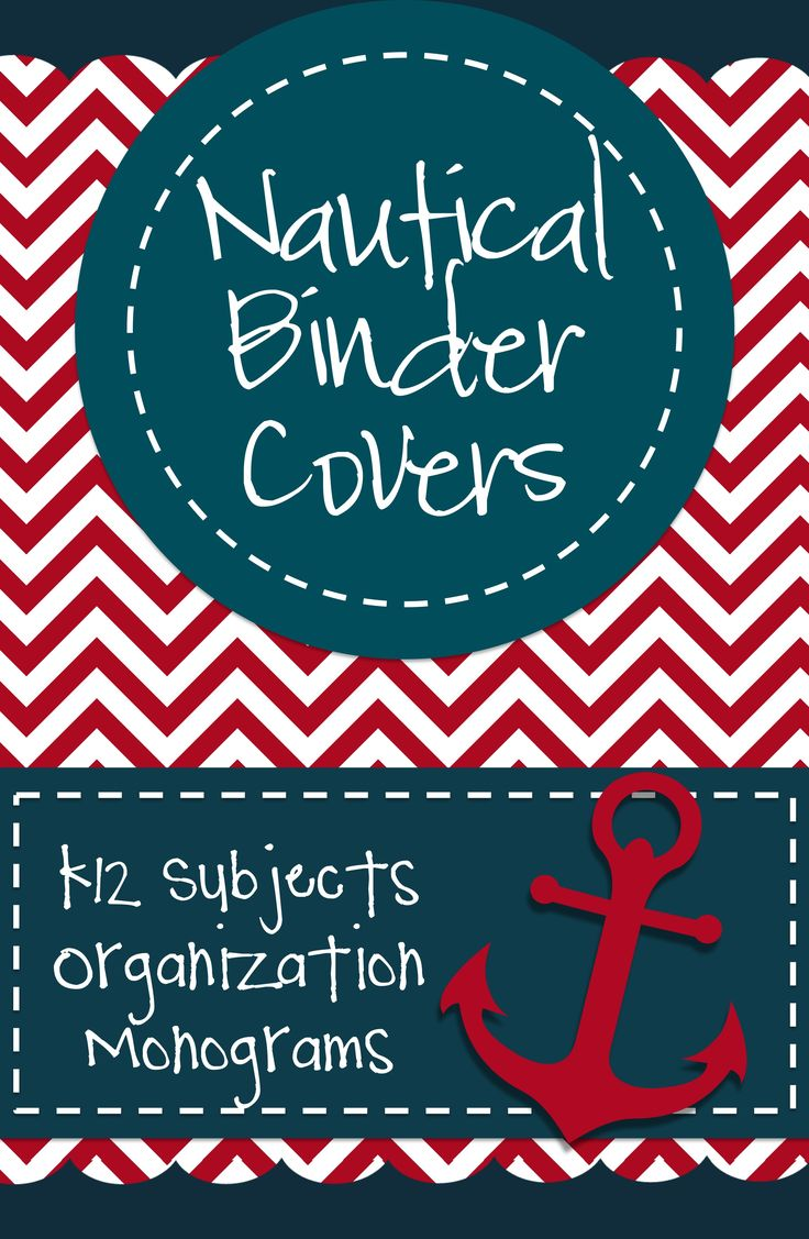 Nautical Binder Covers: These red, white, and navy binder covers will add nautical style to your teacher binder! See the preview for a list of all the covers.