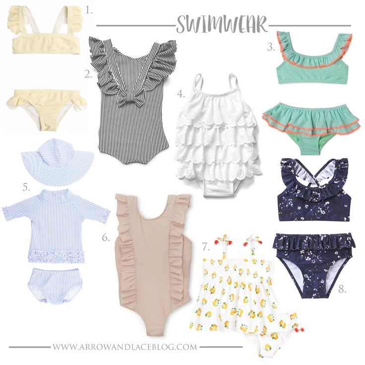 Swimwear for little girls 2017