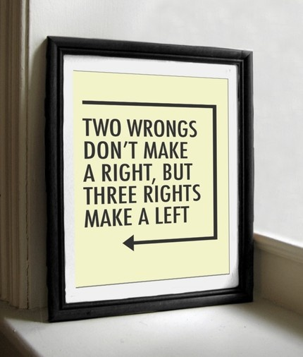 3 Lefts make it Right!