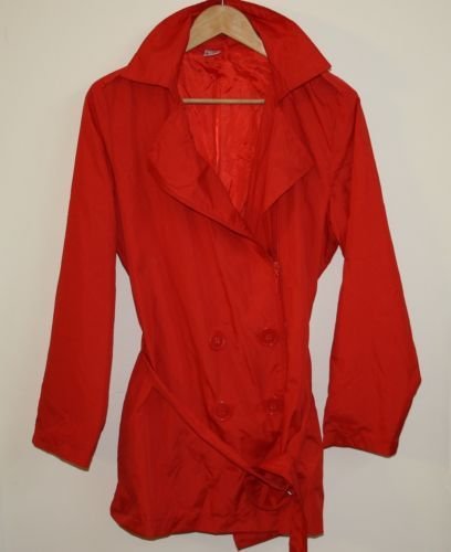 Genuine La Redute Woman's Lady's Fashion Designer Jacket Coat Size 14-16 RED