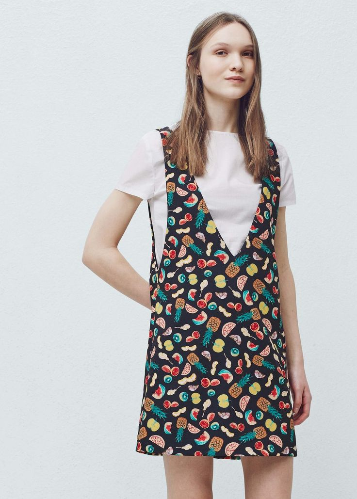 Pinafore dress with t-shirt -  Woman | MANGO Finland