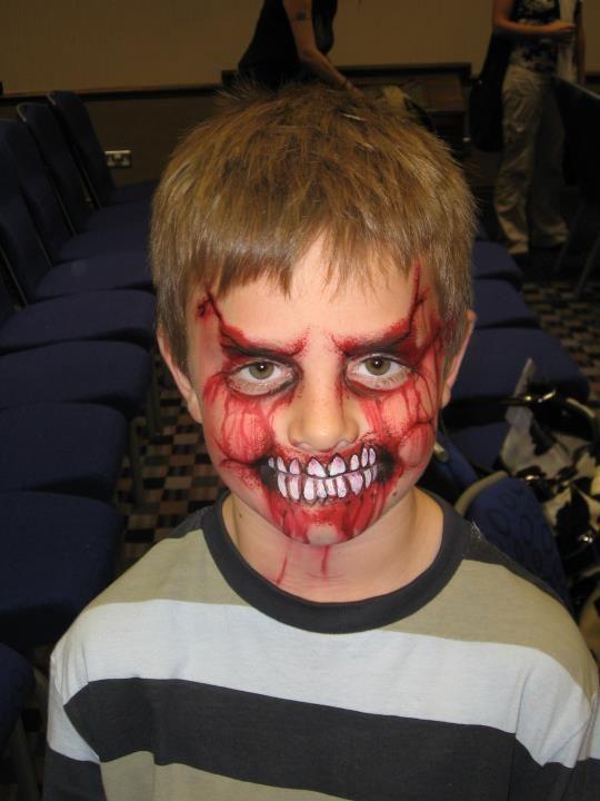 child zombie face paint
