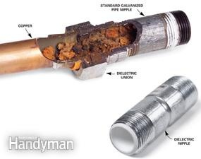 how to fix a busted hot water pipe