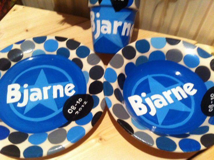 Geboorteservies voor Bjarne
