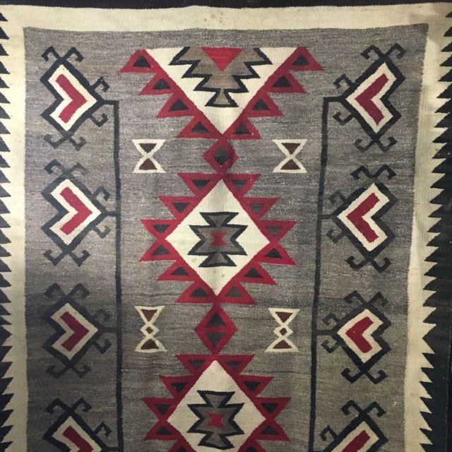 Antique Navajo Transitional Blanket Ganado Hubbell Weave Rug 71X46 Inches   eBay