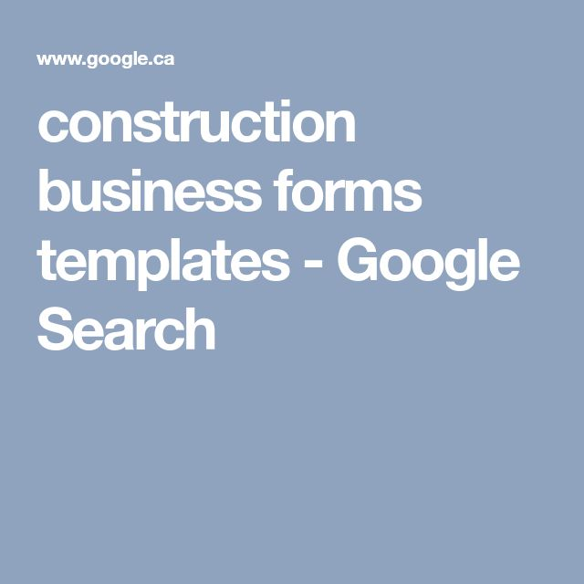 construction business forms templates - Google Search