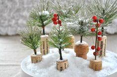 mini kerstboompjes maken