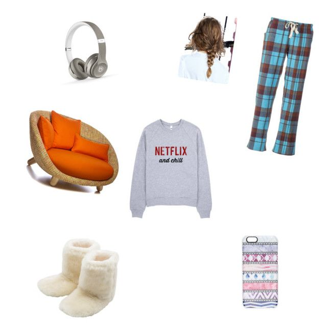 """""""lazy stay at home day"""" by fabulouschloe on Polyvore featuring Kavu, M&Co, Beats by Dr. Dre and Casetify"""
