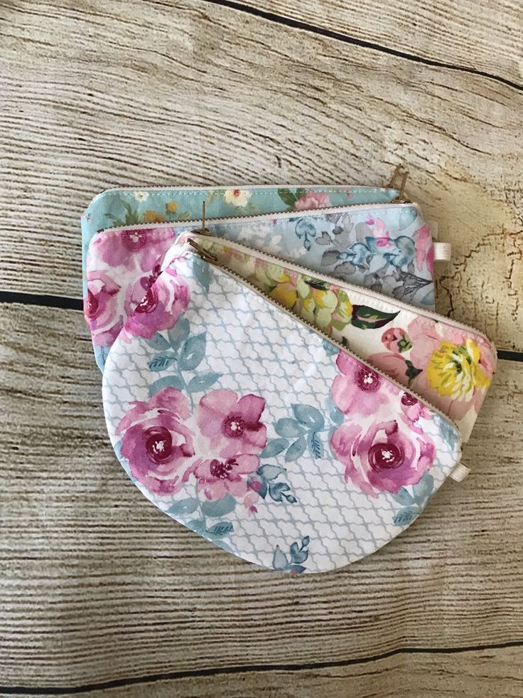 Excited to share the latest addition to my #etsy shop: Floral round bottom zipper pouch, birthday gift, bridesmaid gift, flower girl gift, zipper bag, pencil pouch