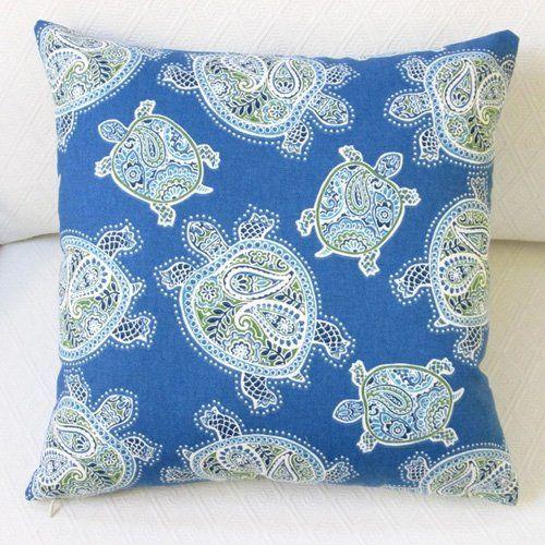 Artisan Pillows Tranquil Sea Turtles 18 in. Throw Pillow - LI-007-01