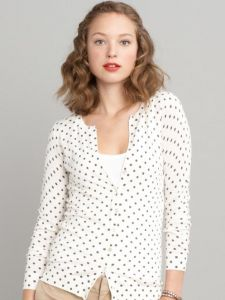 Polka Dots:  Banana Republic Polka Dot Cardigan, $69.50 at BananaRepublic.com