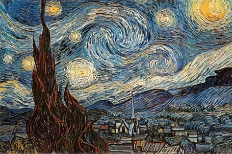 Sterrennacht, ca. 1889 Poster van Vincent van Gogh bij AllPosters.nl