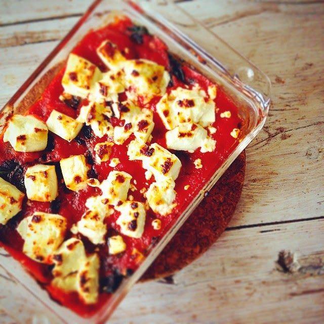 Ovenschotel met spinazie, quorn & feta