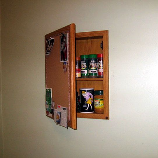 Spice Cabinet Or Bulletin Board Tutorial