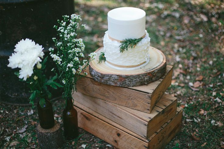 Rustic Wedding Cake by Studio Cakes. http://www.forevaevents.com.au/portfolio/hay-were-hitched/