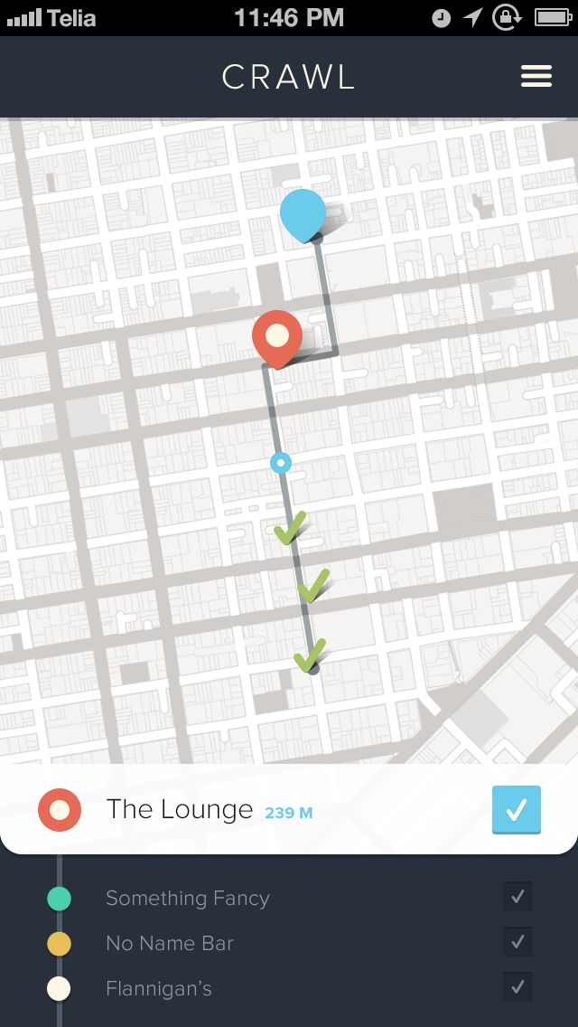 Great looking map app found on dribbble