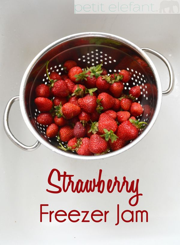 Enjoy the summer taste of strawberries all year long with super easy homemade strawberry freezer jam. It's so easy!