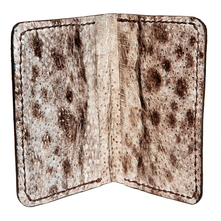 Fish leather wallet - Fish leather wallet - Wolffish eco wallet - natural color bifold fish lether credit card wal – Hraun- Art and design  #fishskin #fishleather