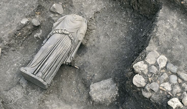 The Eucleia sanctuary   Museum of Royal Tombs of Aigai -Vergina Macedonia Greece