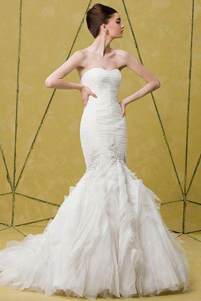 Cool Badgley Mischka Bridal uBridgette u Embellished Tulle Mermaid Dress In Stores Only