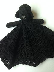 This Darth Vader pattern is just the pattern for the head, to go with the Princess Leia Blankie designed by Stuff Susie Made.