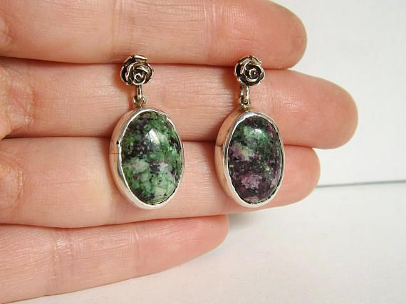 Check out this item in my Etsy shop https://www.etsy.com/listing/591521005/ruby-zoisite-sterling-silver-earrings